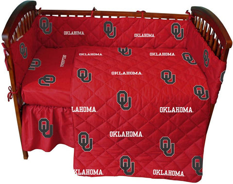 Oklahoma 5 piece Baby Crib Set  - OKLCS by College Covers - Peazz.com