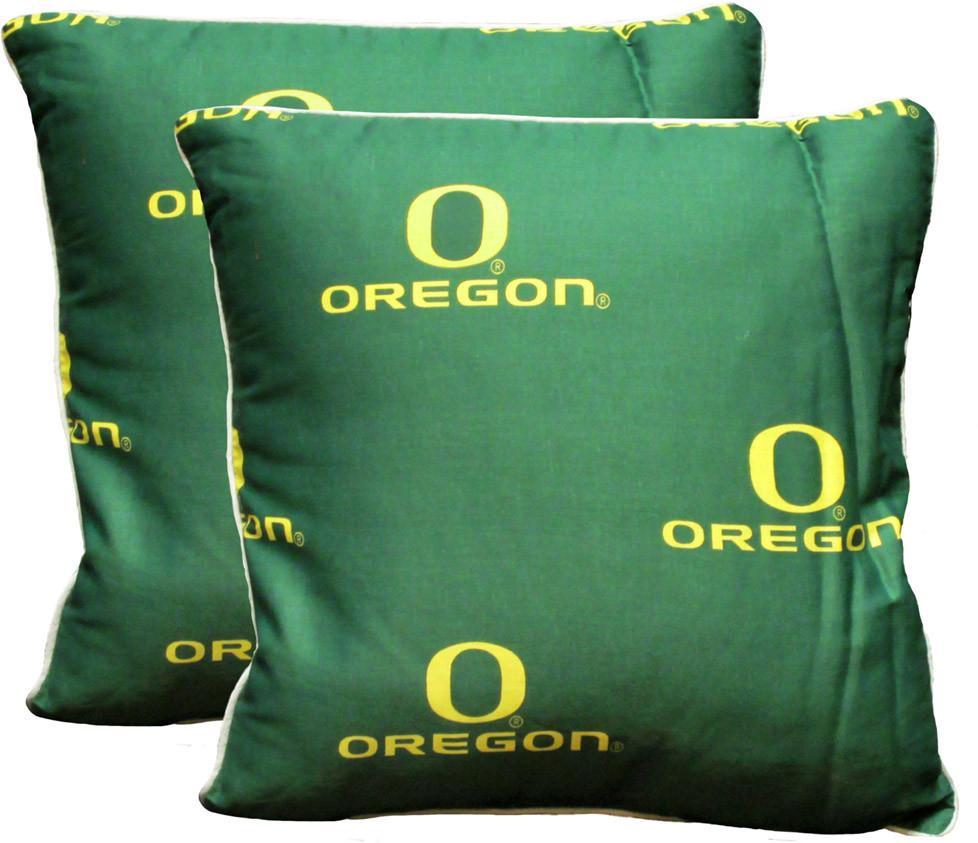Oregon 16 x 16 Decorative Pillow Set - OREDPPR by College Covers