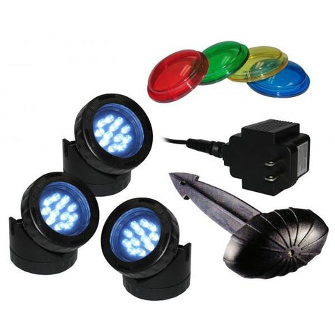 Alpine LED312T LED 3 Pack Light with Photocell & Transformer - Peazz.com