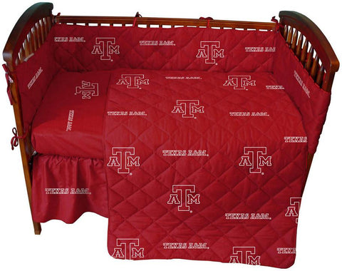 Texas A&M 5 piece Baby Crib Set  - TAMCS by College Covers - Peazz.com