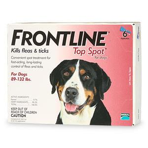 Frontline Top Spot, Dog 89-132 lbs (6 Doses) - Peazz.com