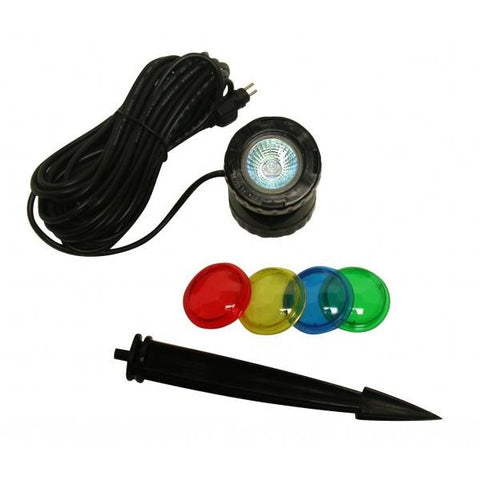 Alpine PLM110 Power Beam 10 W Light Only 23ft Cord w/ Color Lenses & Stake - Peazz.com