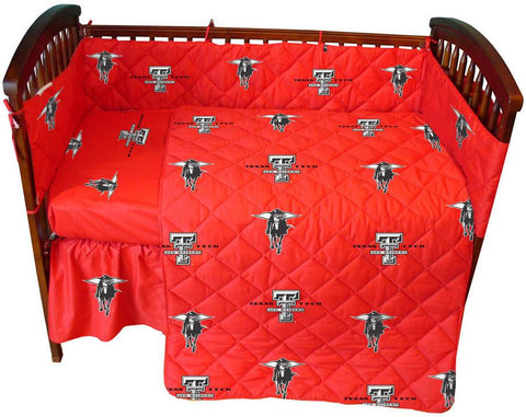 Texas Tech 5 piece Baby Crib Set  - TTUCS by College Covers - Peazz.com