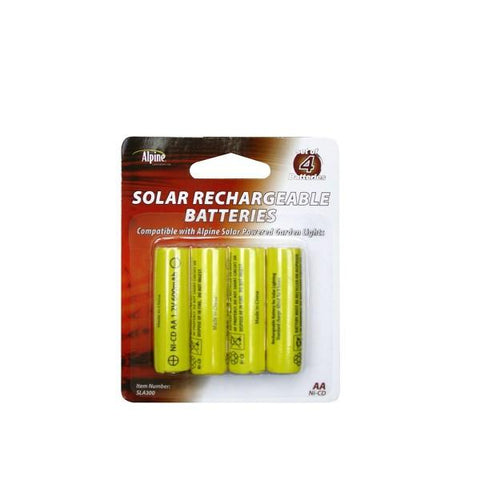 Alpine SLA300 Solar Light Battery 4 Pack - Peazz.com