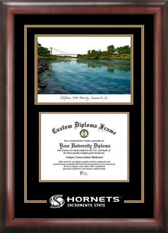 California State Sacremento University Spirit Graduate Frame with Campus Image - Peazz.com
