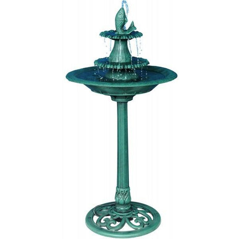 Alpine TEC104 Fountain with Fish - Peazz.com