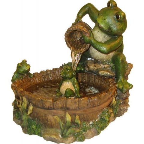 Alpine TT2508 Eternity Tabletop Fountain: Mother Frog Bathing Family - Peazz.com