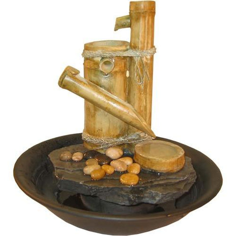Alpine TT4278 Eternity Tabletop Fountain: Bamboo Slide (Large) - Peazz.com