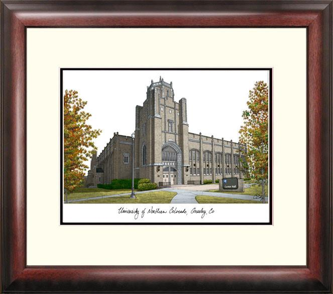 University of Northern Colorado Campus Images Lithograph Print