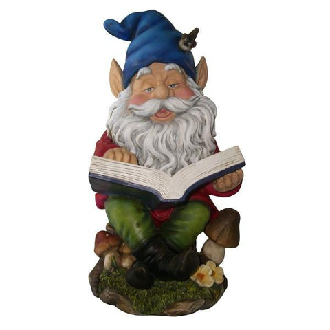 Alpine WAC206 Gnome Reading Book Statuary - Peazz.com