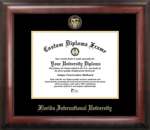 Florida International University Gold Embossed Diploma Frame - Peazz.com