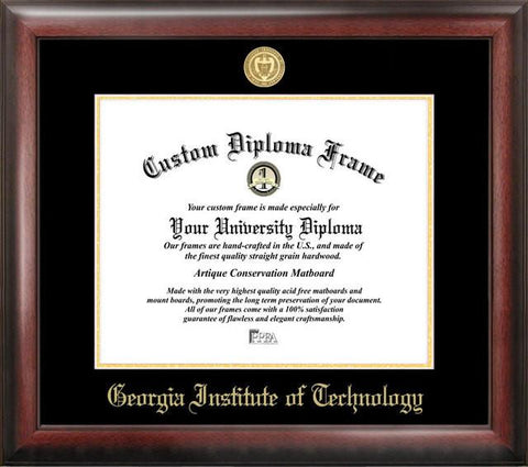 Georgia Institute of Technology Gold Embossed Diploma Frame - Peazz.com