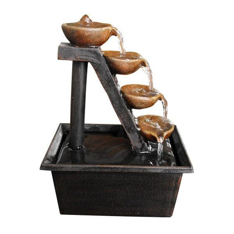 Alpine WCT324 Four Tiered Step Tabletop Fountain - Peazz.com