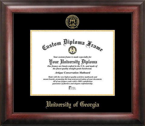 University of Georgia Gold Embossed Diploma Frame - Peazz.com