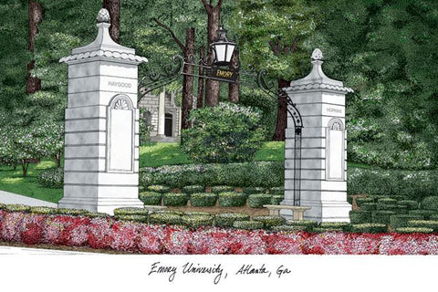 EmoryUniversity Campus Images Lithograph Print - Peazz.com