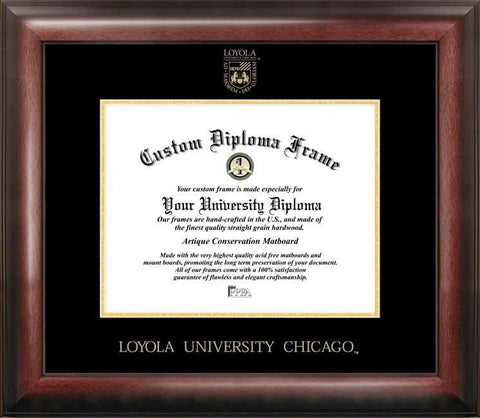 Loyola University Chicago Gold Embossed Diploma Frame - Peazz.com