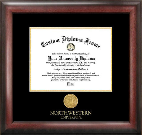 Northwestern University Gold Embossed Diploma Frame - Peazz.com