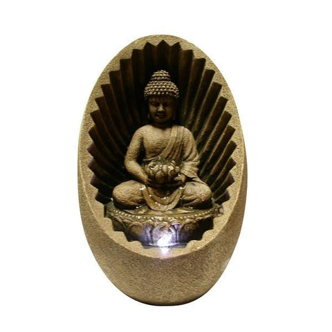 Alpine WIN322 Buddha Tabletop Fountain with LED light - Peazz.com