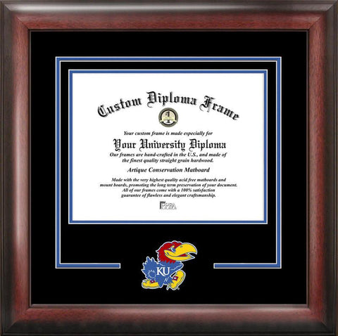 University of Kansas Spirit Diploma Frame - Peazz.com