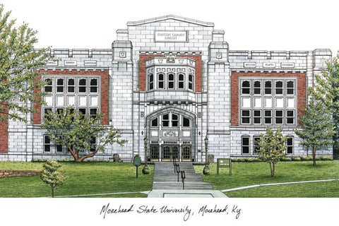 Morehead State UniversityCampus Images Lithograph Print - Peazz.com