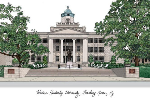Western Kentucky UniversityCampus Images Lithograph Print - Peazz.com