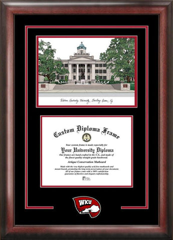 Western Kentucky UniversitySpirit Graduate Frame with Campus Image - Peazz.com