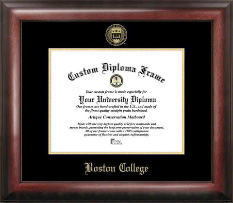 Boston College Gold Embossed Diploma Frame - Peazz.com