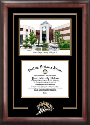 Western Michigan UniversitySpirit Graduate Frame with Campus Image - Peazz.com