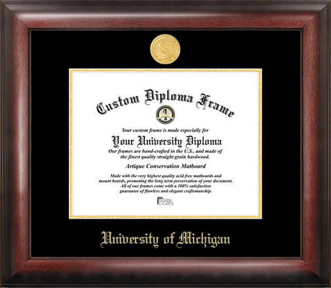 University of Michigan Gold Embossed Diploma Frame - Peazz.com
