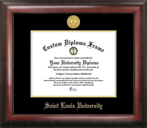 Saint Louis University Gold Embossed Diploma Frame - Peazz.com