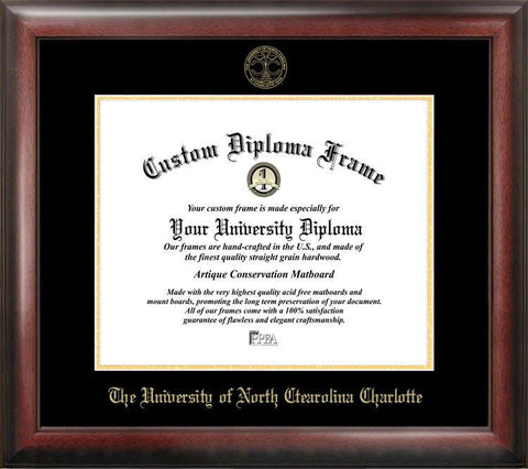 University of North Carolina, Charlotte Gold Embossed Diploma Frame - Peazz.com