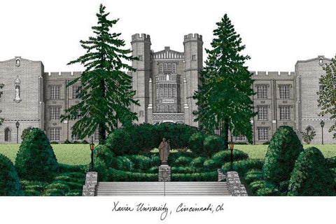 Xavier UniversityCampus Images Lithograph Print - Peazz.com