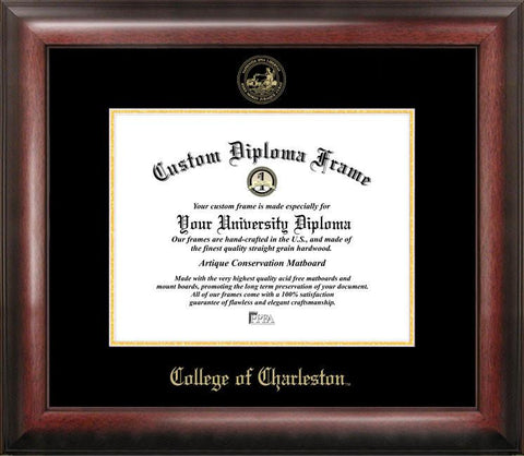 College of Charleston Gold Embossed Diploma Frame - Peazz.com