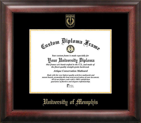 University of Memphis Gold Embossed Diploma Frame - Peazz.com