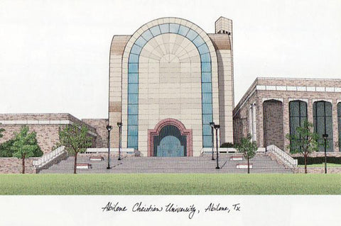 Abilene Christian University Campus Images Lithograph Print - Peazz.com