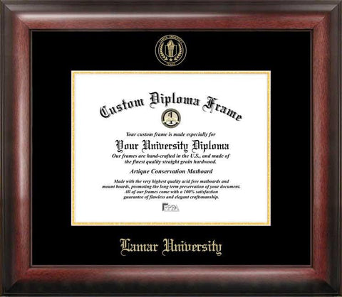 Lamar University Gold Embossed Diploma Frame - Peazz.com