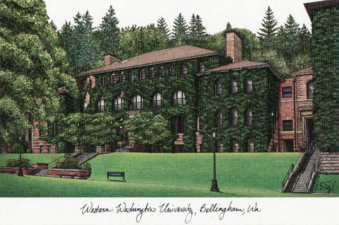 Western Washington UniversityCampus Images Lithograph Print - Peazz.com