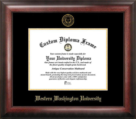Western Washington UniversityGold Embossed Diploma Frame - Peazz.com