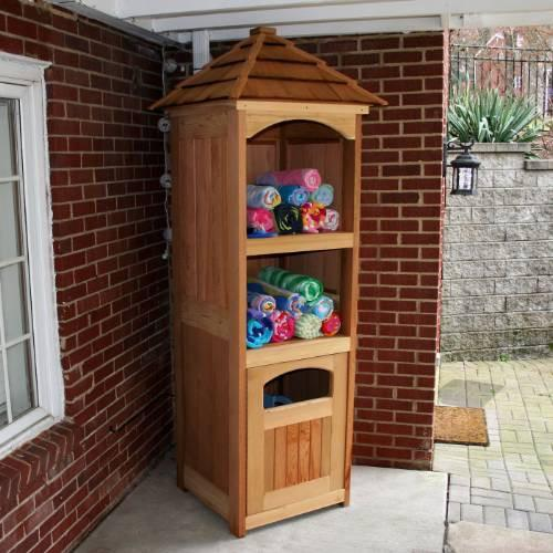 Creekvine Design Entertainment Storage Unit Cedar