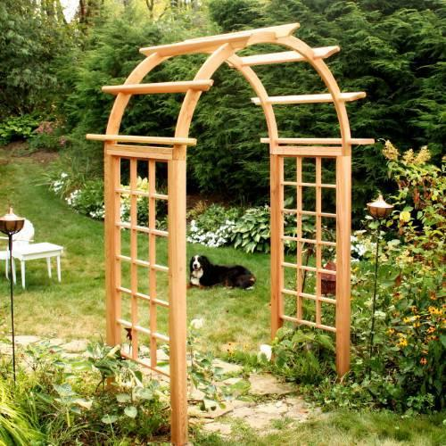 Arched Arbor Opening Cedar 2952 Product Photo