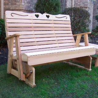 Creekvine Design Royal Country Hearts Rocking Glider Cedar