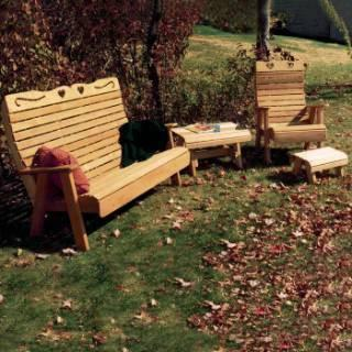 Royal Country Hearts Patio Group Cedar