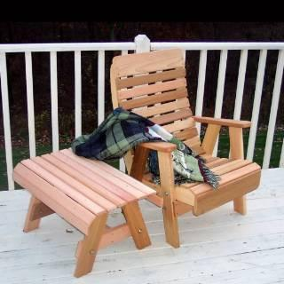 Creekvine Design WRF1130SETCVD Cedar Twin Ponds Chair & Table Set - Peazz.com