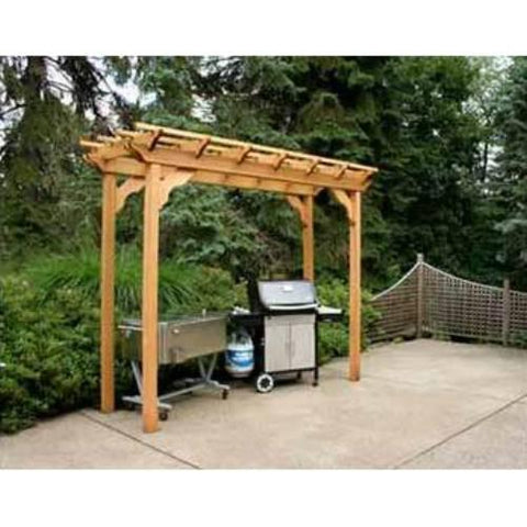 Creekvine Design WRF310PERGCVD 3' x 10' Cedar New Dawn Pergola - Peazz.com