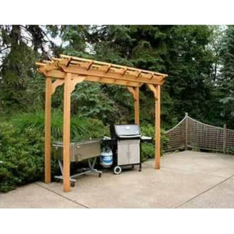 Creekvine Design WRF412PERGCVD 4' x 12' Cedar New Dawn Pergola - Peazz.com