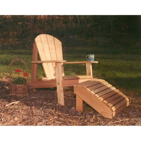 Creekvine Design WRF516200CVD Cedar Adirondack Chair & Footrest Set - Peazz.com
