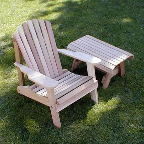 Creekvine Design WRF5200SETCVD Cedar American Forest Adirondack Chair & Table Set - Peazz.com