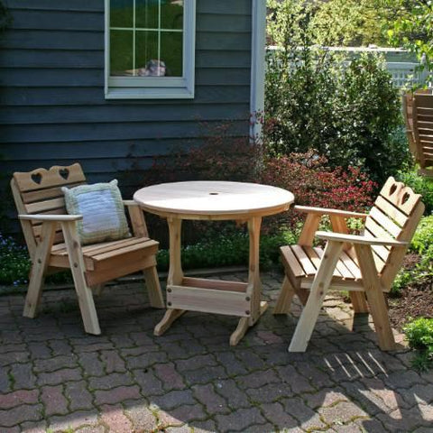 Creekvine Design WRFCHBSETCVD Cedar Country Hearts Bistro Set - Peazz.com