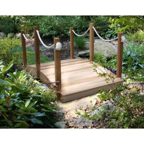 Creekvine Design WRFRPEB06CVD 6' Cedar Rope Bridge - Peazz.com