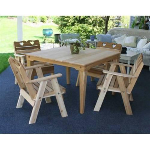 Creekvine Design WRFSASDSCVD Cedar Country Hearts Dining Set - Peazz.com